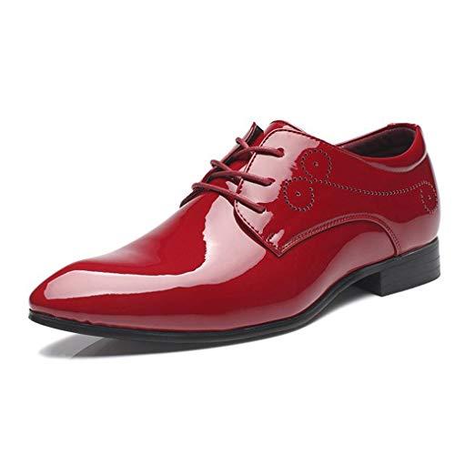 Zapatos de Vestir de Negocios para Hombre Zapatos de Derby de Charol...