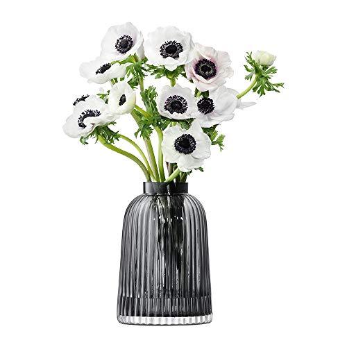 LSA International Falte Vase H20cm grau