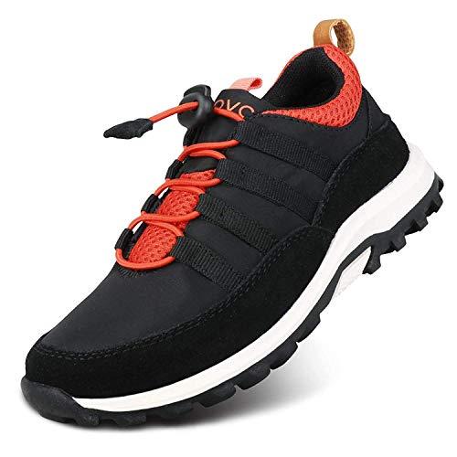 UOVO Turnschuhe Jungen Laufschuhe Schnürer Sneaker Kinderschuhe Sportschuhe Hallenschuhe Schwarz für Unisex-Kinder Size 39
