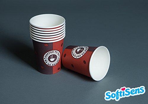 1000 x 0,2l Coffee to go Becher Kaffeebecher, Pappbecher, Hartpapierbecher, Einwegbecher