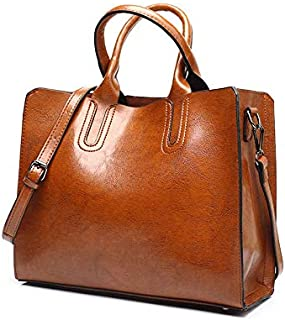 Women PU Leather Tote Bag Large Capacity Shoulder Bags Waterproof AntiI-Scratch Handbag