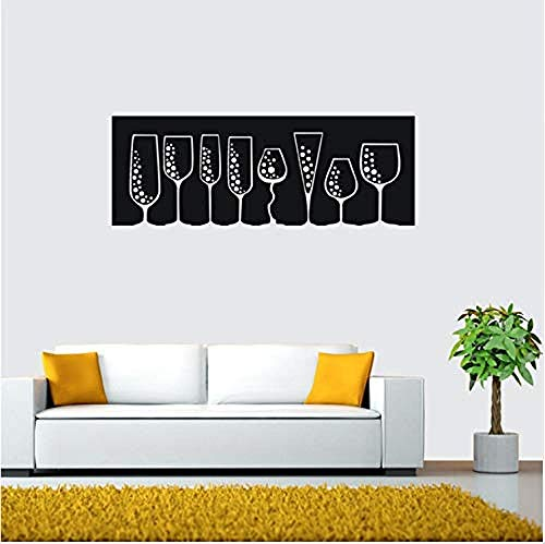 Muurstickers Jhping Muurstickers, Leeg Glas Patroon, Bar Decoratie Muur, Wijnglas, Muursticker Grootte 21X58Cm