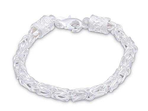 Juwelier Schönschmied- Silberarmband 925 Sterling Silber platt. Königsarmband - Elegante Verarbeitung-5 Sterling-Silber 925 20 cm IDs5-5