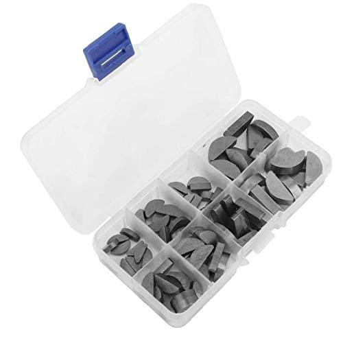 Metall Woodruff Keys Halbkreis Sortiment Box Kit Set Verschiedene Größen 80pcs Multifunktionsindustrieausrüstung