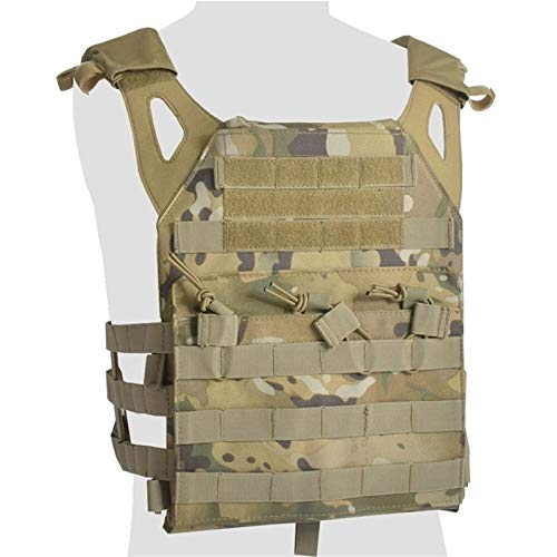CHENGTAO Tactical Vest Body Armor Plate Carrier Molle Military Army Vest Ammo Magazine Chest Rig Airsoft Paintball Gear Loading Training (Color : Multicam)