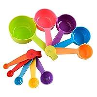 set di 10 misurini cucina in plastica misurini cucchiai misurini dosatori per misurare ingredienti secchi e liquidi