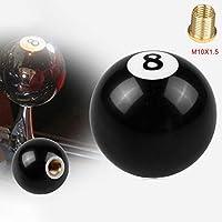シフトレバー ブラック自動変速Shifer、アダプタのサイズのための8ボールシフトノブ:M10は1.5 xは.
