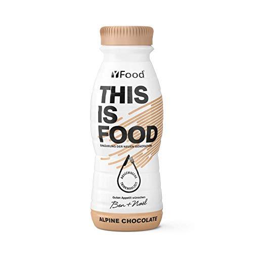 YFood Schokolade | Laktose- und glutenfreier Nahrungsersatz | 22g Protein, 26 Vitamine und Mineralstoffe | Leckere Astronautennahrung - 17% des Kalorienbedarfs | Trinkmahlzeit, 8 x 330 ml (1 kcal/ml)