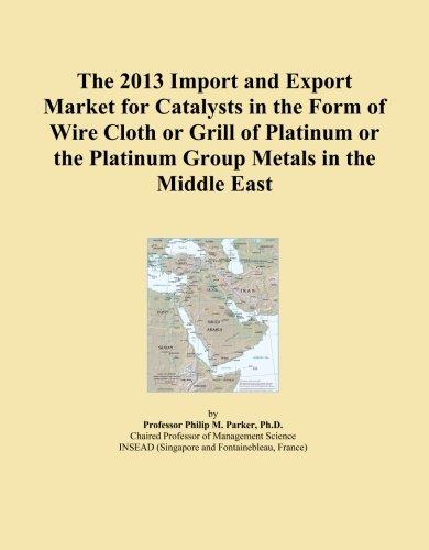 Gamuza de la 2013Importación y mercado de exportación para Catalizadores en la forma de alambre o parrilla de platino o el grupo de platino en el Oriente Medio de metales