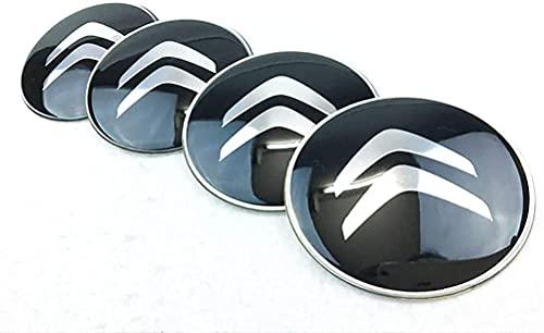 4pcs Coche Tapacubos Centro Rueda Para Citroen C2 C3 C4 C4l C5 Saxo Xsara Picasso Ds 3 4 6 C1, Reemplazo Con Logo Decorativa Accesorios