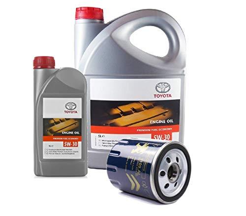 TOYOTA Duo Pack Motorolie originele 5W-30 PFE synthetische 08880-83389 C2 6 liter + oliefilter 1109.AL (SU001-01084)