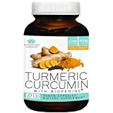 Organic Turmeric Curcumin with Bioperine - 1200mg ( 120 Capsules ) - Premium Joint & Healthy Inflammatory Support - Non-GMO , Made in The USA