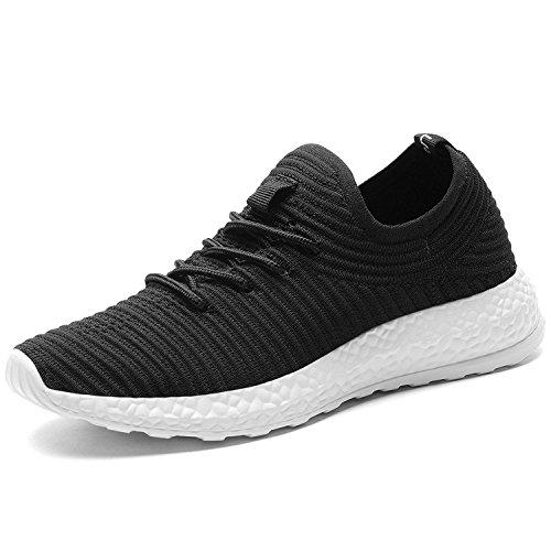 TIOSEBON Women's Walking Shoes Lightweight Breathable Running Sneakers 6.5 US Black