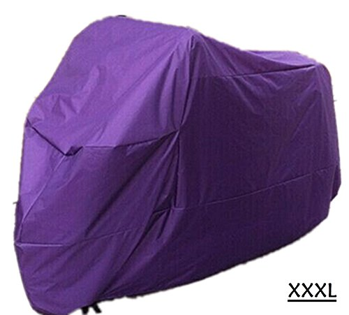 XXXL Portable Universal Teffeta Rainproof Survival Motorcycle Cover Weather Protection AntiSunlight UV Wind Rain Sand Outdoor Coldproof Parking Protection Purple XXXL
