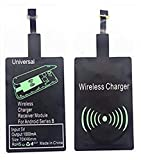AISHEMI Fast QI Receiver Type B Ultra-Slim 5w 1000mAh Wireless Charging Receiver Adapter for HTC ONE Е9/Е9+/X9/Desire 700/DESIRE 10-Meizu M5/M5 Note/M5c/U20-Note/U10 Compatible All Wireless Charger