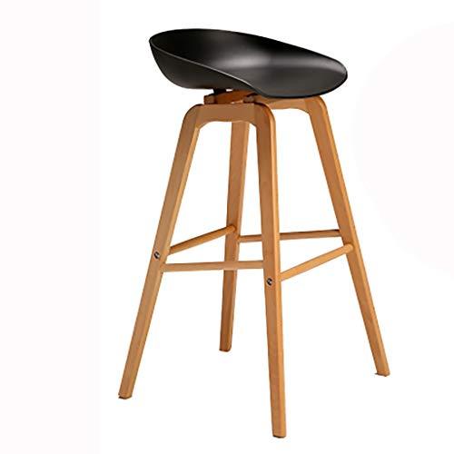 BJL-Barhocker Barhocker Barhocker Massivholz Hochhocker Haushaltssessel Fronthocker Stuhl/PVC-Sitz OYO (Color : A6)