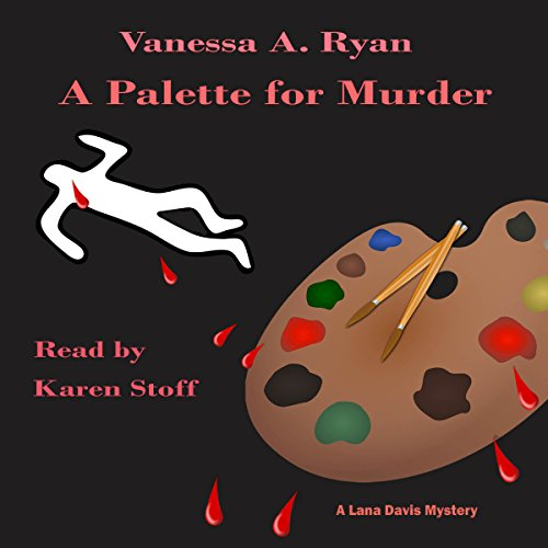 A Palette for Murder audiobook cover art