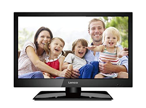 Lenco DVBT2 Fernseher LED-1922BK 19 Zoll (47 cm) mit 12 Volt Kfz-Adapter (LED Full HD, HDMI, USB, SCART, CI+), Schwarz