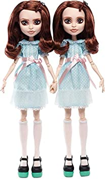 Monster High The Shining Grady Twins Collector Doll 2-Pack 2 Collectible Dolls  10-inch  in Fashions and Film-Inspired Accessories with Doll Stands