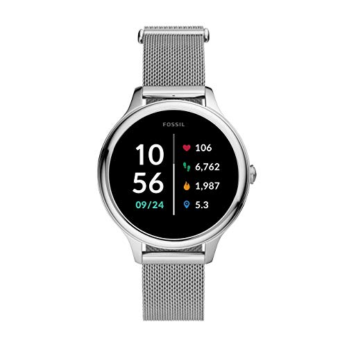Fossil Damen Touchscreen Smartwatch 5E. Generation mit Lautsprecher, Herzfrequenz, NFC und Smartphone Benachrichtigungen