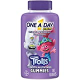 One A Day Kids Trolls Multivitamin Gummy, 180 Count, with Vitamins A, B6, B12, C, D, and E, Zinc, Folic Acid, and Biotin (Packaging May Vary)