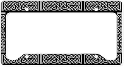 Celtic Knot Gray License Plate Frame Chrome Metal,Novelty License Plate Cover,Auto License Car Tag Holder, Gifts for Men,for Women,Wife,Husband