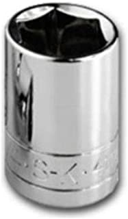 SK Professional Tools 40712 1/4 in. Drive 6-Point Metric Standard Chrome Socket – 13mm old Forged Steel Socket with SuperKrome Finish, Made in USA