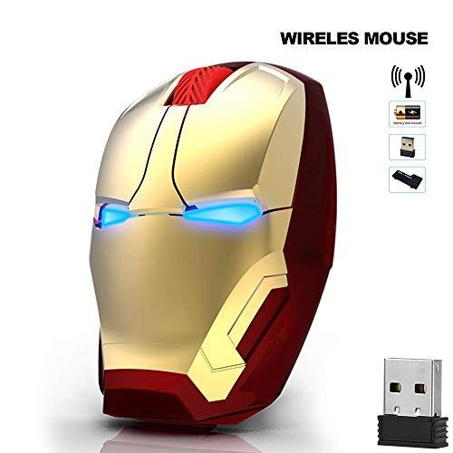 Ratón USB Inalámbrico, LED óptico 2.4G portátil para Ordenador portátil Mouse 3 dpi Ajustable Compatible con PC/portátil USB Mouse inalámbrico