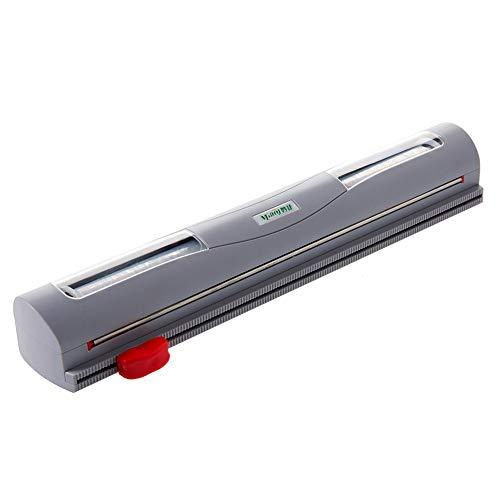 Dispenser di Pellicole per Alimenti Folienschneider, Folienspender aus ABS-Material für Plastikfolie, Alufolie, Frischhaltefolie und Wachspapier