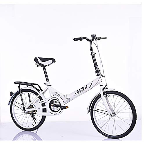 Foldable Bicycle, Adult Mountain Bike, 20 inches, Bicycle, Road Bike, Foldable, Double disc Brake, Best Gift,-White