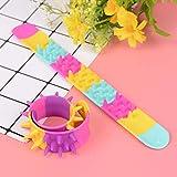 Dorime Anti-Stress-Spielzeug Spike Fidget Armband Kinder Party Favor Sensory Spielzeug Spiky Slap Armband Anti-Stress für Autismus 2ST