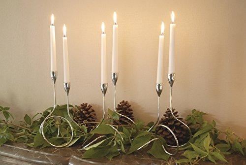 black + blum Loop Candle Holder | Modern Metal Candlestick Holders with Chromed Steel Finish, Interlinking Handcrafted Loop Design, Fibonacci Curve Inspired, Silver