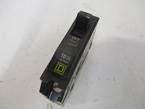 Thermal Magnetic Circuit Breaker, Miniature, QO Series, 240 VAC, 48 VDC, 10 A, 1 Pole, Plug On