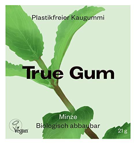 True Gum - Minze | Plastikfreier Kaugummi | Biologisch Abbaubar | Vegan | 21 g