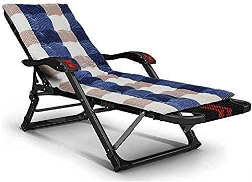 Tumbona reclinable silla de jardín plegable silla de jardín tumbona ligera cubierta interior silla mecedora portátil