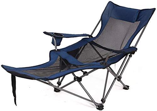 Outdoor Klappliege Tragbare Rücken Angelstuhl Camping Stuhl Freizeit Hocker Pause Stuhl Strand Nickerchen Leichte Tragbare + Outdoor Mittagspause + Zwei-gang-einstellung + Zuverlässige Liege,blue