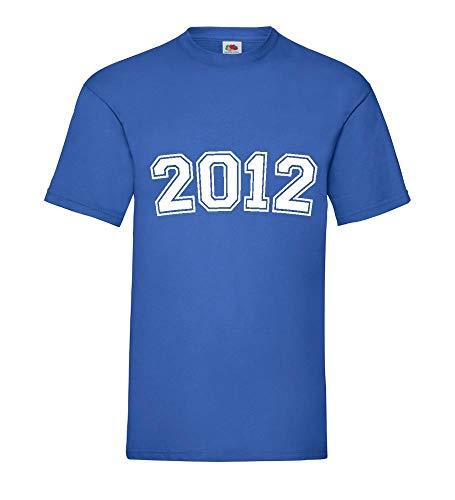 2012 shirt84.de - Camiseta para hombre azul real XXXL