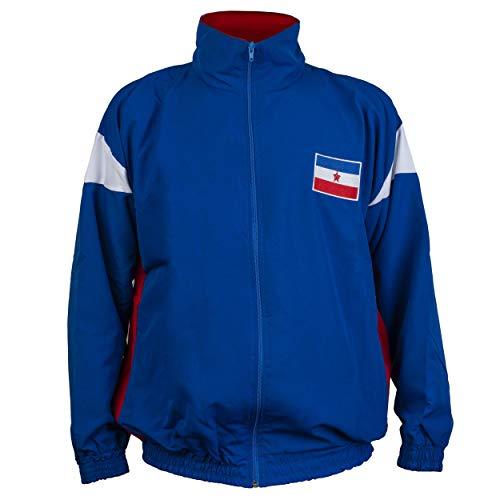 JL Sport Jugoslawien 1980 Retro Vintage Commonist Era National Fußball Soccer Jacke Anzug - XXL