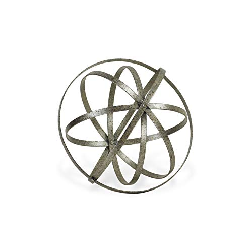 Cheung's FP-4459L Metal Folding Orb, Silver Distressed