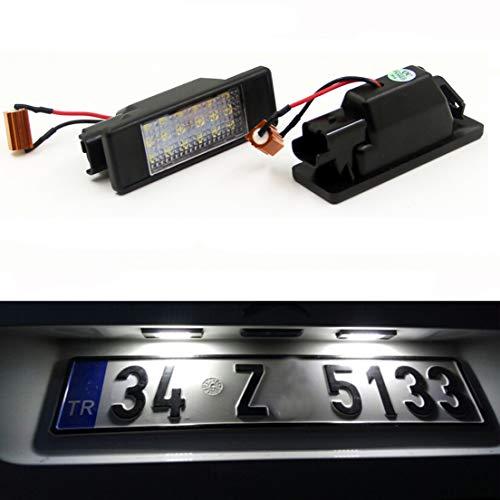 MOLEAQI Lámpara de luz de Placa de matrícula LED sin Error de 2 Piezas para M-ercedes B-ENZ Sprinter 906 Viano W639 Vito W639