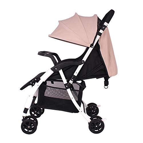Great Features Of Baby cart Lightweight Folding can sit Reclining Ultra Light Child Trolley (Color :...