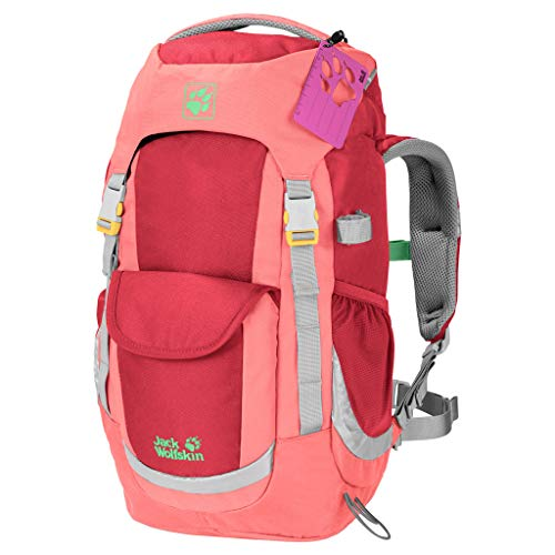 Jack Wolfskin Kinder Kids Explorer 20 Bequemer Kinderrucksack, Tulip red, ONE Size