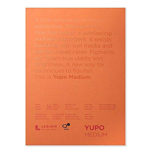 Yupo Paper 12,7 cm x 17,7 cm 10 vellen/verpakking wit 33,5 kg, overige, meerkleurig.