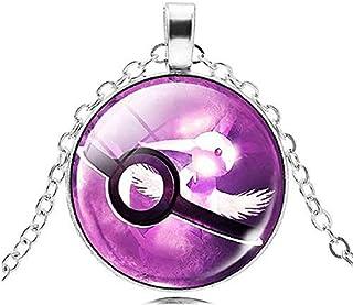 Legisdream Collar Pendiente de la Medalla Pokeballs diseño de la Trampa Lilla Jewel Diversión Ideas Regalo para Cualquier ...