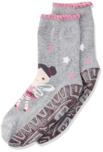Sterntaler Baby-Mädchen Glitzer-Flitzer AIR Fee Socken, Silber Mel, 18