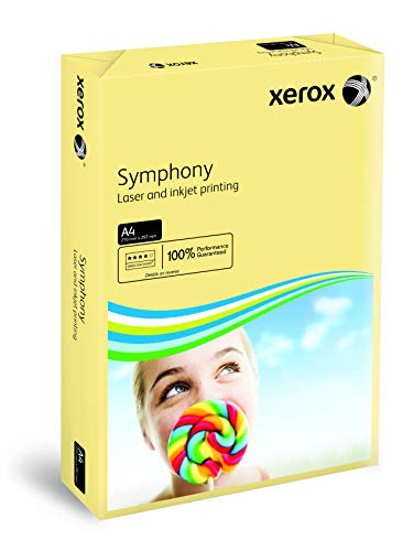 Xerox 003R93219 gekleurd printpapier kopieerpapier Symphony pastel DIN A4, 160 g/m2, 250 vellen per pak, ivoor