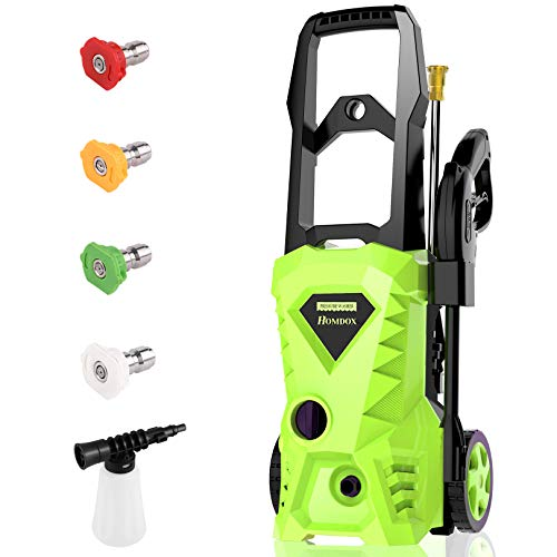 Homdox 2500 PSI Pressure Washer Electric Power Washer 1600W 1.5GPM Powered Cleaner Machine with Power Nozzle Gun