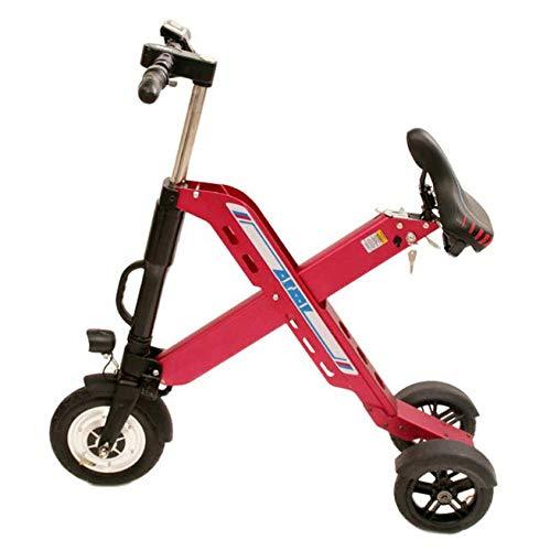 SHIJING La Sra Equilibrio vehículo eléctrico Mini-Litio Tres pequeños Scooter Scooters de Bicicleta eléctrica Plegable para Adultos