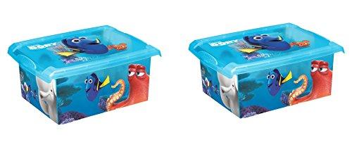 2 x boîte à jouets jouet Boîte Fashion Box Disney findet Dorie 10 L