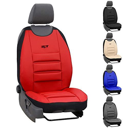 Saferide - Funda para asiento de coche (universal, piel sintética, con airbag, 1 asiento delantero)